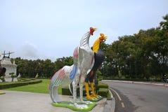 Statue de poulet en Thaïlande Photos libres de droits