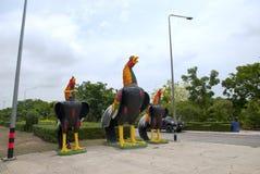 Statue de poulet en Thaïlande Photographie stock libre de droits