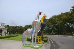Statue de poulet en Thaïlande Images stock