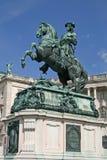 Statue de prince Eugene, palais de Hofburg, Vienne, Autriche Images stock