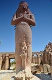 Statue de Ramses II dans le temple de Karnak, Louxor, Egypte Photos stock