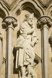 Statue de Roch de saint, cathédrale de Salisbury image stock