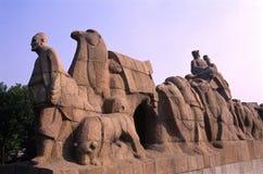 Statue de route en soie images libres de droits