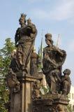 Statue de rue Barbara, de rue Margaret et de rue Elizabeth Photos stock