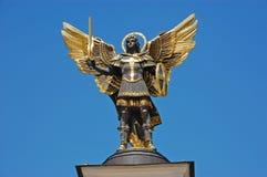 Statue de rue Michael le patron, Kiev photo libre de droits