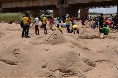 Statue de sable Photographie stock
