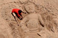 Statue de sable Image stock