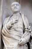 Statue de saint de portail du sud d'église de Maria AM Gestade à Vienne images stock