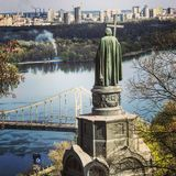 Statue de saint Vladimir dans Kyiv ou Kiev - l'UKRAINE image libre de droits