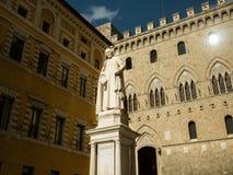 Statue de Sallustio Bandini, Sienne, Italie Photographie stock libre de droits