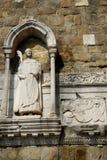 Statue de San Giusto Martire dans la cathédrale qui porte son nom à Trieste, Friuli Venezia Giulia (Italie) Photographie stock