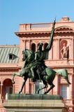 Statue de San Martin dans la maison de gouvernement Photographie stock libre de droits