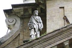 Statue de San Pietro chez Tre Fontante Abbey photographie stock