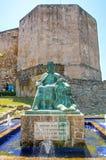 Statue de Sancho IV, le courageux, à Tarifa Images libres de droits
