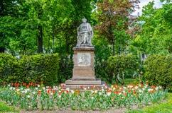 Statue de Schubert dans Stadtpark à Vienne, Autriche photo libre de droits