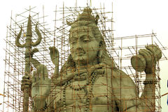 Statue de seigneur Shiva en construction Photo stock