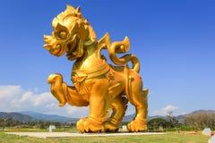 Statue de Singha au parc de Singha, Mueang Chiang Rai District, Chiang Rai, Thaïlande du nord Photographie stock
