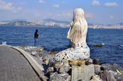 Statue de sirène sur l'île de Buyukada Images stock