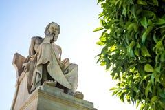 Statue de Socrates images libres de droits