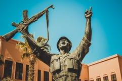 Statue de soldat égyptien de gagnant Photos libres de droits