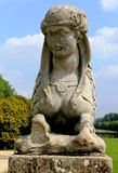 Statue de sphinx au château De Fontainebleau, Paris, France Photo stock