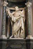 Statue de St Bartholomew par Pierre Le Gros le plus jeune Photos libres de droits