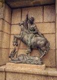 Statue de St George à Caceres images libres de droits