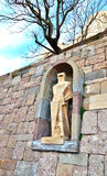 Statue de St George - un détail de la décoration du monaste Image stock