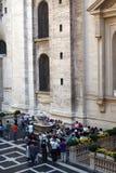 Statue de St Gregorious, cour de Vatican photo stock