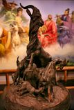 Statue de symbole de cinq chèvres de Guangzhou photos libres de droits