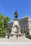 Statue de Thomas Hendricks à l'extérieur du bâtiment de capitol de l'Indiana Photos libres de droits