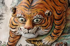 Statue de tigre Photo libre de droits