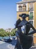 Statue de toréador vue par derrière Images libres de droits