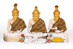Statue de trois recluse dans le temple Photographie stock libre de droits