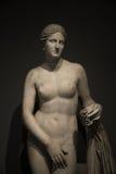 Statue de Vénus nacked au fond noir, Rome, Italie Images stock