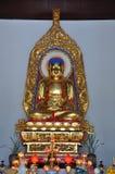 Statue de Vairocana Bouddha dans le temple de Pilu, Nanjing Photographie stock libre de droits