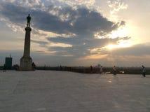 Statue de victoire dans la forteresse de Kalemegdan à Belgrade, Serbie photos stock