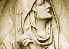 Statue de Vierge Marie comme symbole de rétro St d'amour et de gentillesse Image stock
