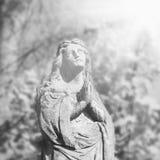 Statue de Vierge Marie comme symbole de religion d'amour et de gentillesse Photographie stock