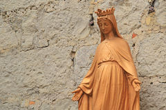 Statue de Vierge Marie dans Gruissan photographie stock