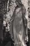 Statue de Vierge Marie rétro filtre religion, foi, sainte, péché Image libre de droits