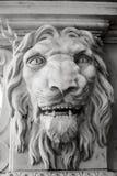 Statue de vintage de palais, le visage du lion Photos libres de droits