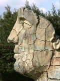 Statue de visage à Florence. Photographie stock