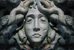 Statue de visage de déesse de méduse Photographie stock libre de droits