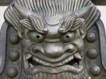 Statue de visage de fer images libres de droits