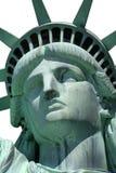 Statue de visage de liberté d'isolement Photographie stock libre de droits