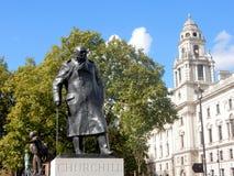 Statue de Winston Churchill, Londres, sculpture en bronze de l'ancien premier ministre britannique photos stock