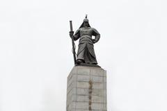 Statue de Yi Sun Sin à Séoul Photo libre de droits