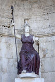 Statue Dea Roma in Rome, Italy Stock Images