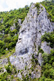 The statue of Decebal carved in the mountain Stock Photo